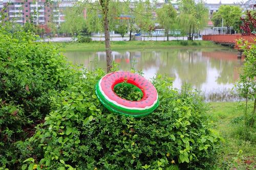 boia piscina melancia 70cm inflável - pronta entrega