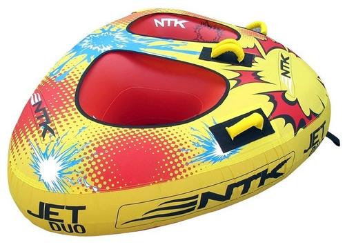 boia rebocável inflável nautika jet duo 2p lancha barco ski
