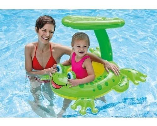 boia sapo infantil com proteção solar 1.19x79 cm 56584 - int