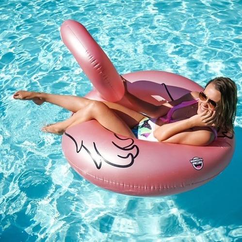 boias divertidas inflaveis flamingo gigante de piscina