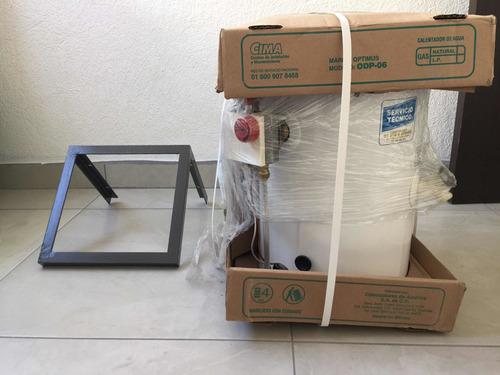 boiler calentador de agua de paso gas lo 6 l optimus odp-06