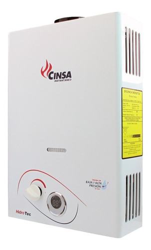 boiler calentador instantáneo cinsa cin-06 b
