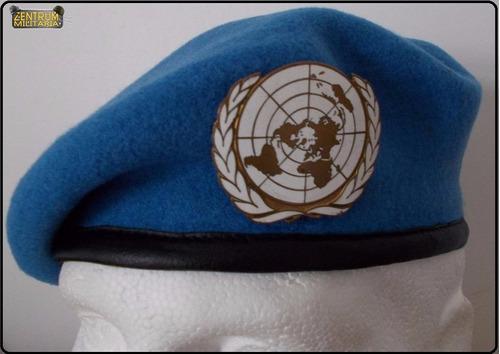 boina azul da onu naçoes unidas (pronta entrega)