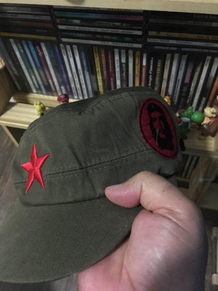 boina bordado che-guevara fidel castro estrela vermelha. Carregando zoom. 370f49fa97d