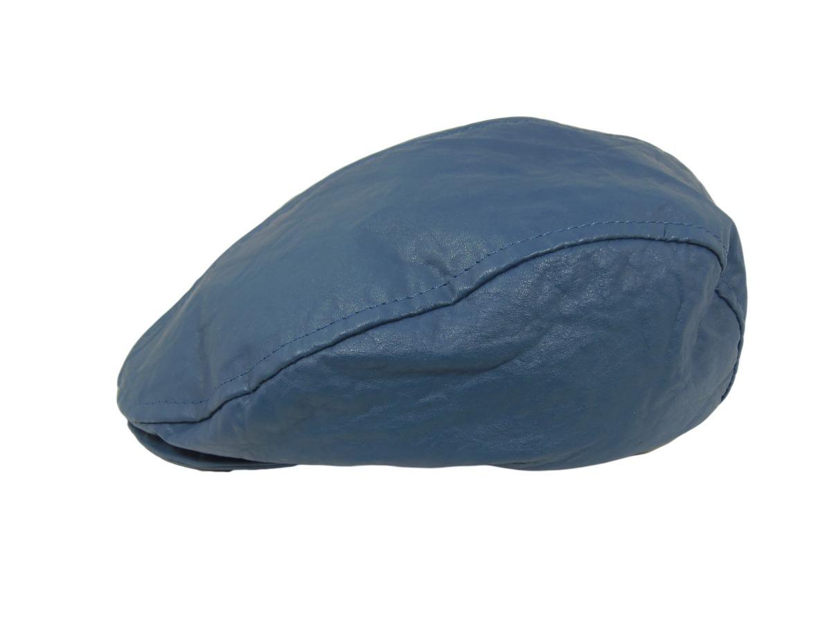 Boina Cuero Azul - Varios Talles -   850 7d2ea784bb3