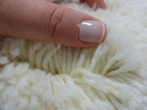 boina de lã branca para polimento 5/8 7'
