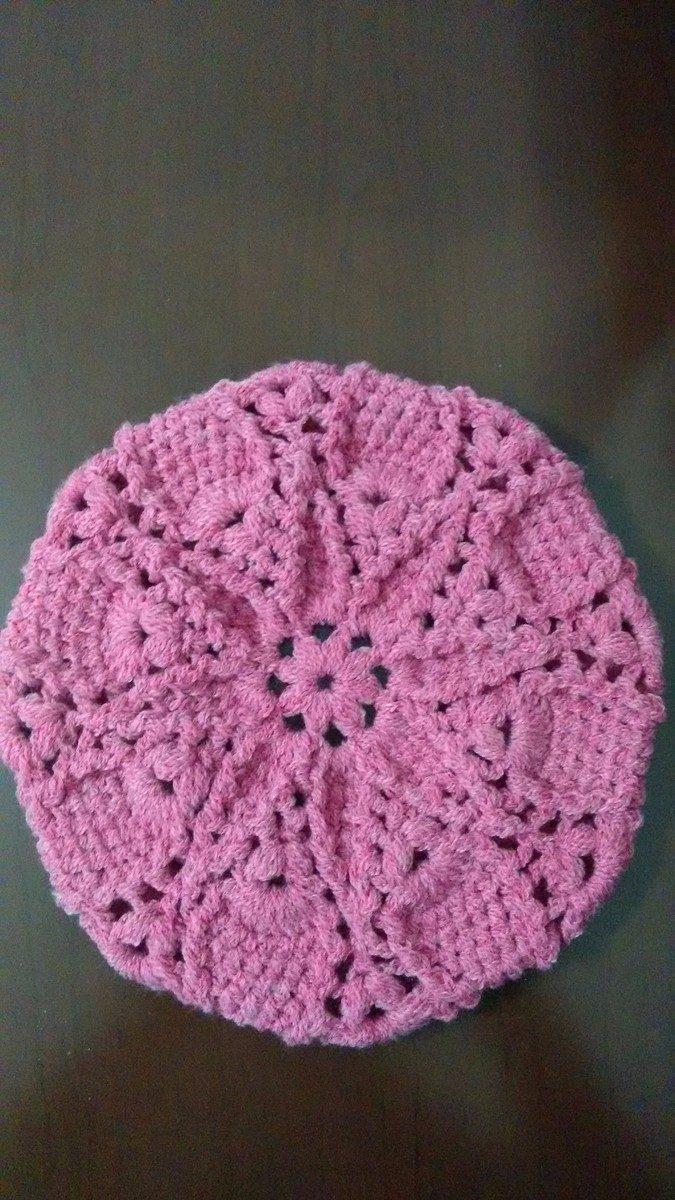boina de lã em crochê adulto. Carregando zoom. 98152a7fb40