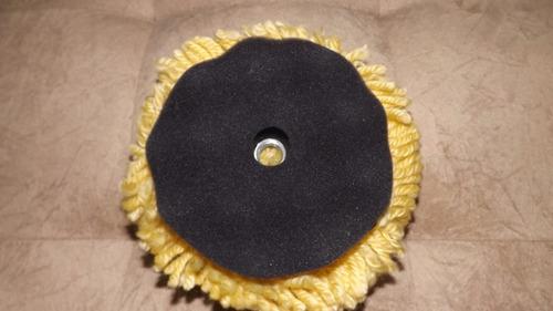 boina de lã mista amarela espuma preta 125mm 5/8 5 polegadas