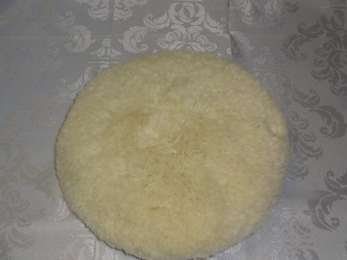 boina de lã para polimento automotivo 5/8 7' branca
