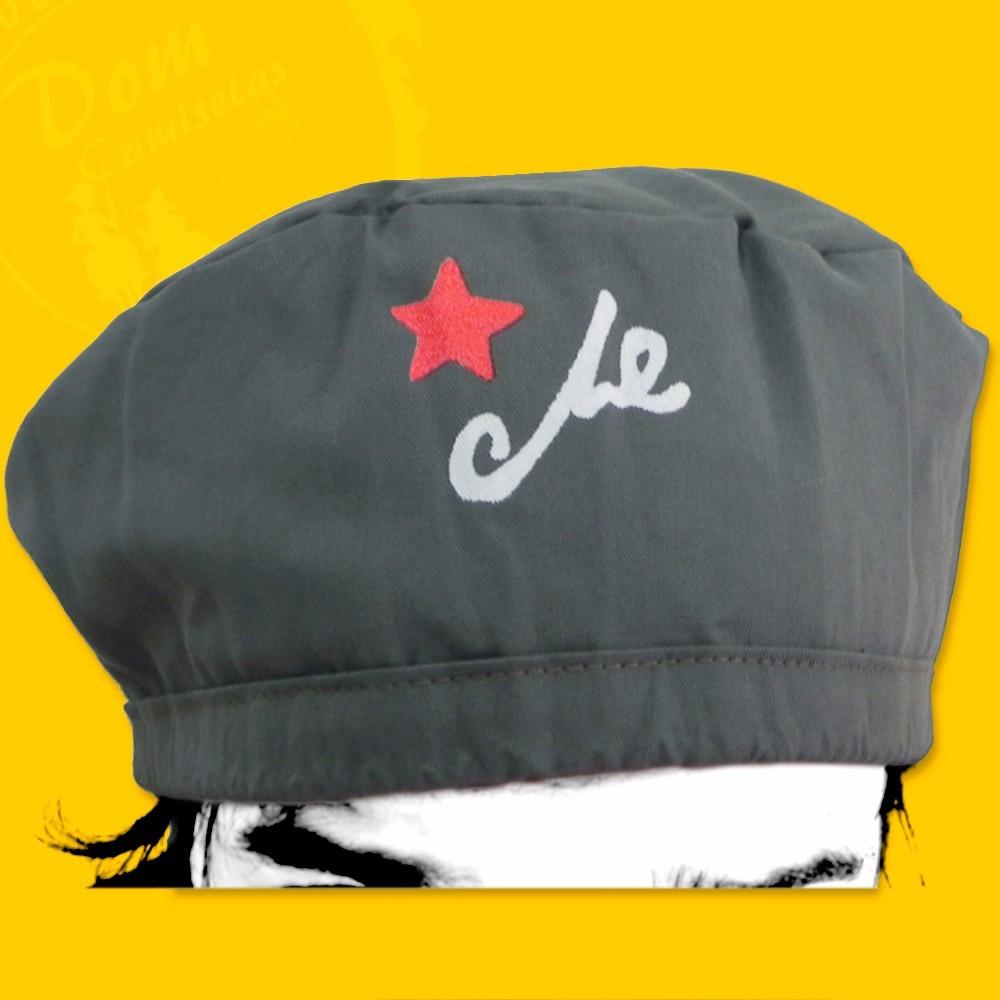Boina Do Che Guevara - Cinza Claro (estrela E Assinatura) - R  22 1739d781335