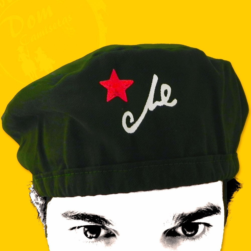 Boina Do Che Guevara - Verde Militar (estrela E Assinatura) - R  22 ... ea691bf287f