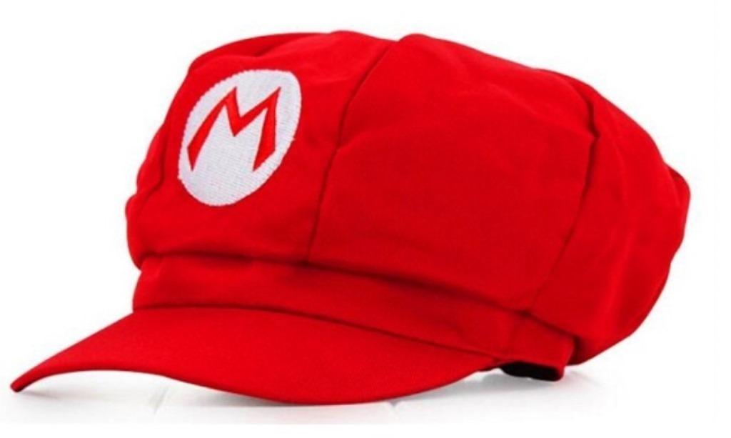 boina do super mario bros cosplay chapéu boné pronta entrega. Carregando  zoom. ea68259507e