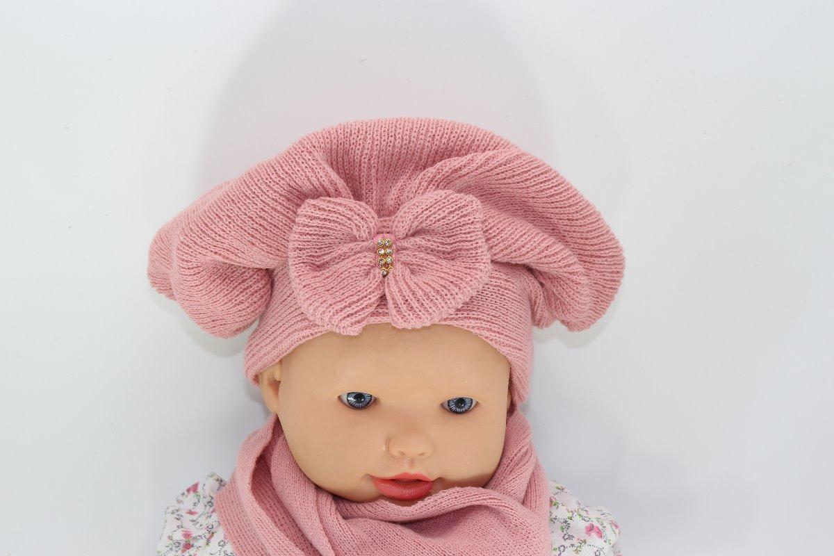 boina e cachecol lã infantil bebê crochê c  laço e strass. Carregando zoom. 5cce3cc819e