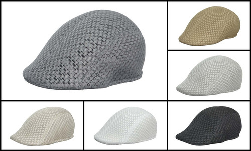boina española de poliéster cerrada calada gorra ba 70-001
