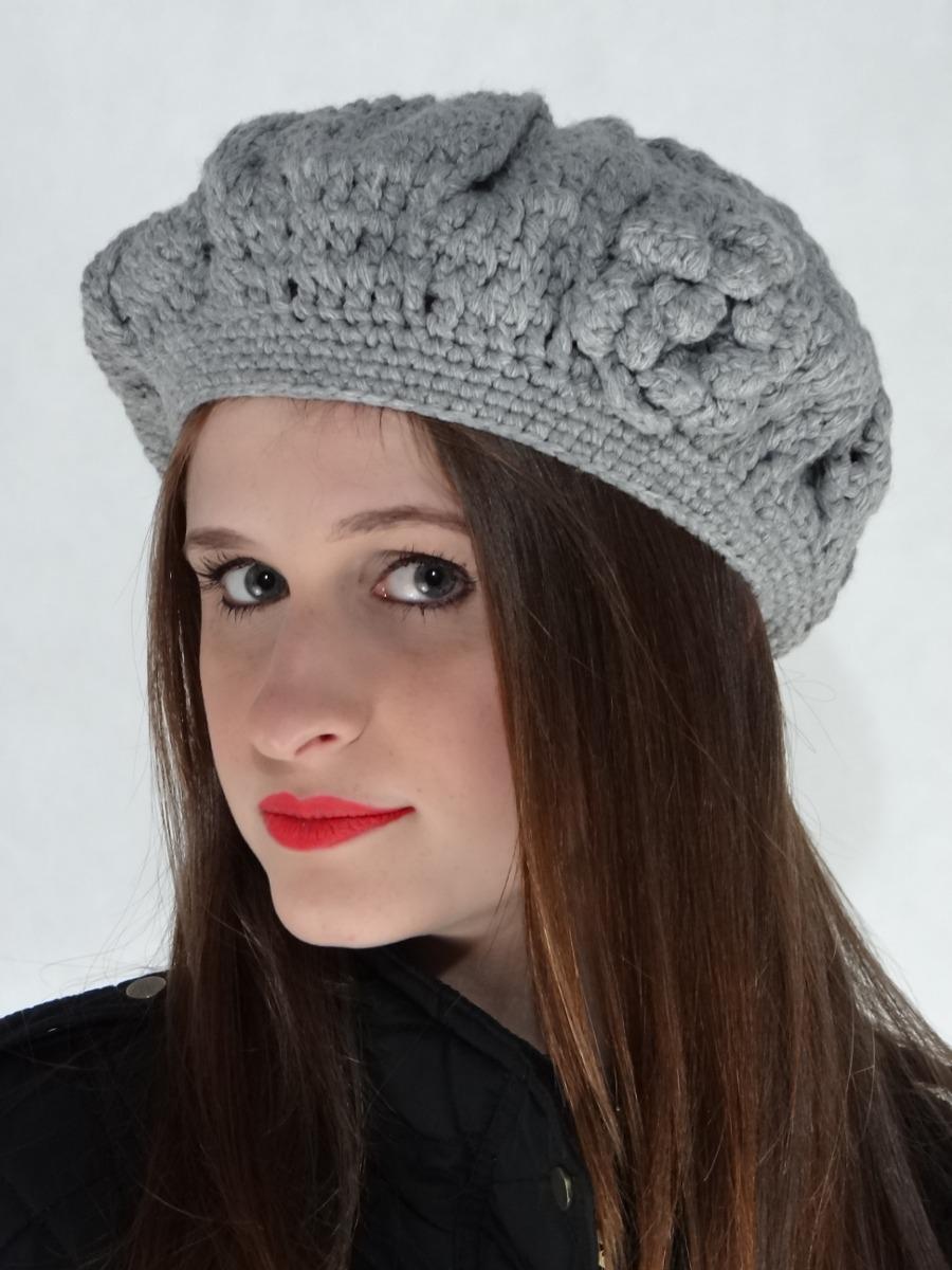 boina feminina de crochê em lã sem aba. Carregando zoom. 498060114ac