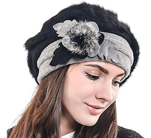 boina francesa para mujer boina de lana gorro chic de invier