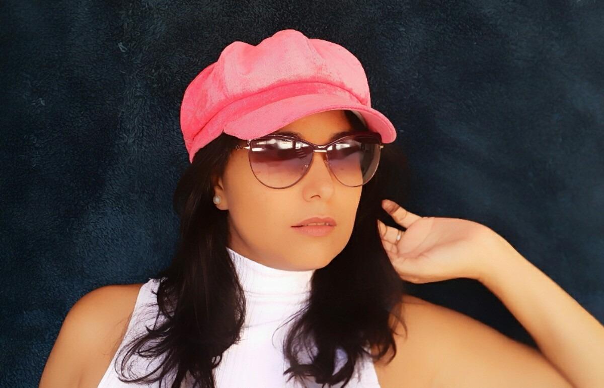 boina gorro cap chapeu feminina rosa. Carregando zoom. 6cfb9b9a055