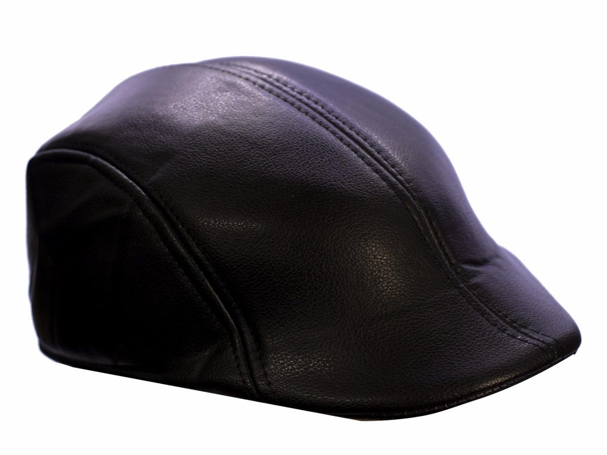 boina italiana estilo unissex inverno touca boné couro preta. Carregando  zoom. ac7c8cd5f7d