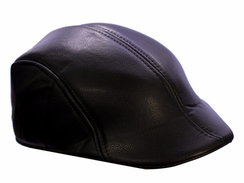 boina italiana estilo unissex inverno touca boné couro preta