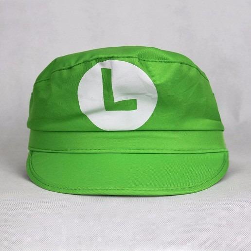 f73eece60e732 Boina Luigi Verde Super Mario Bros Cosplay Nintendo Wario - R  19