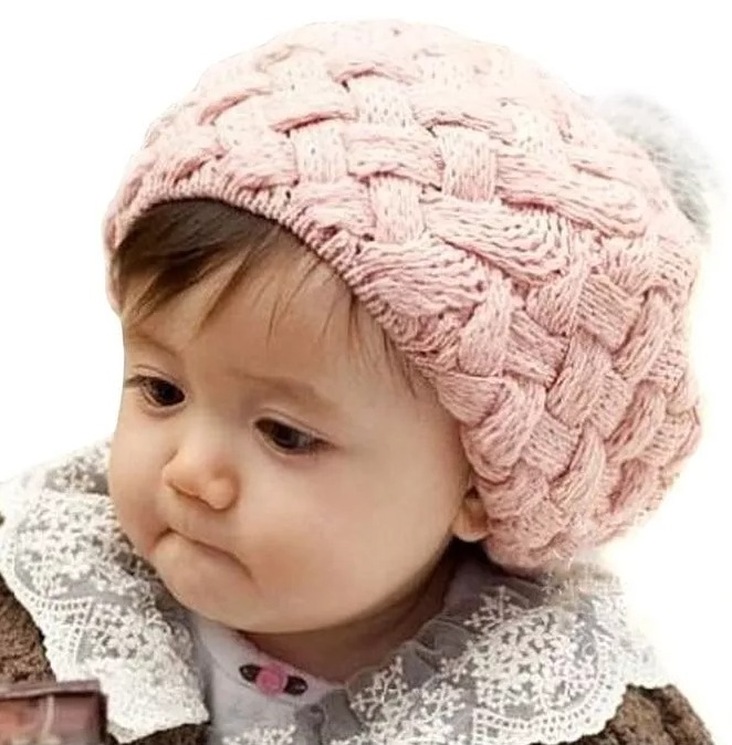 9bd19439adbee Boina Menina Gorro Infantil Touca Lã Crochê Chapéu Rosa - R  22