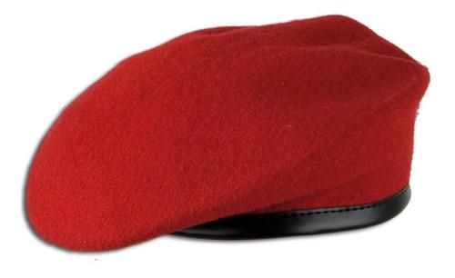 boina roja militar original ejército alemania seminueva