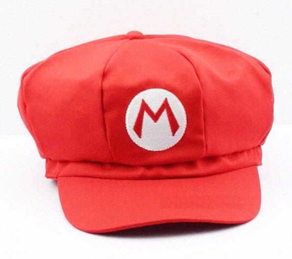84fdbc04f0645 Boina Super Mario Bros Fantasia Mario Bordado Cosplay Barato - R  29 ...