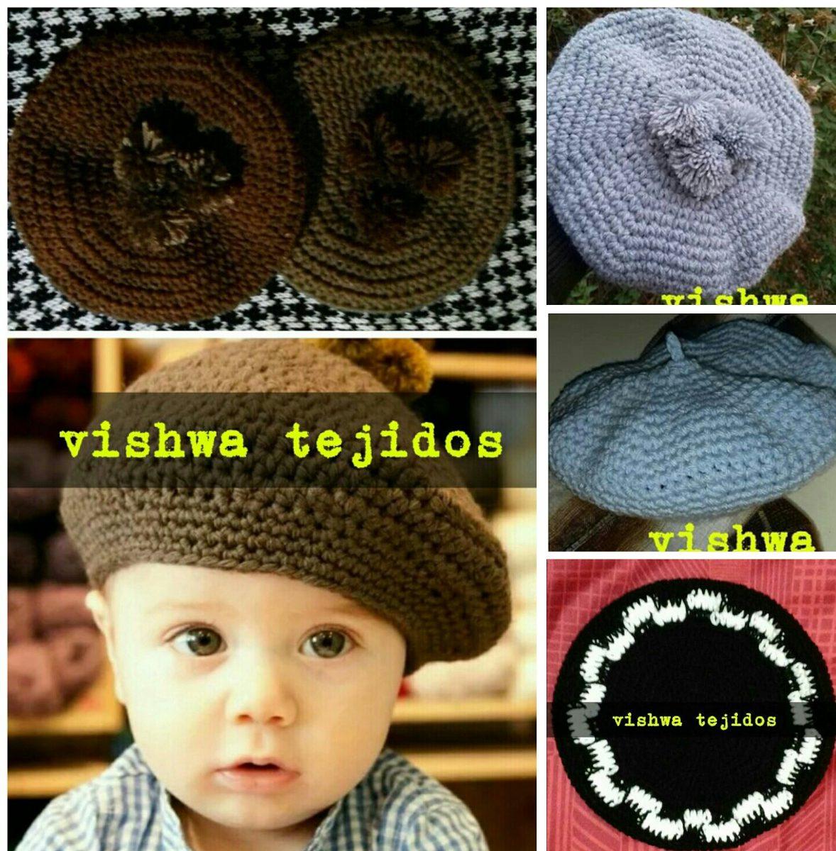 boina tejida a crochet gaucho invierno niño varon niña. Cargando zoom. 971eae31003