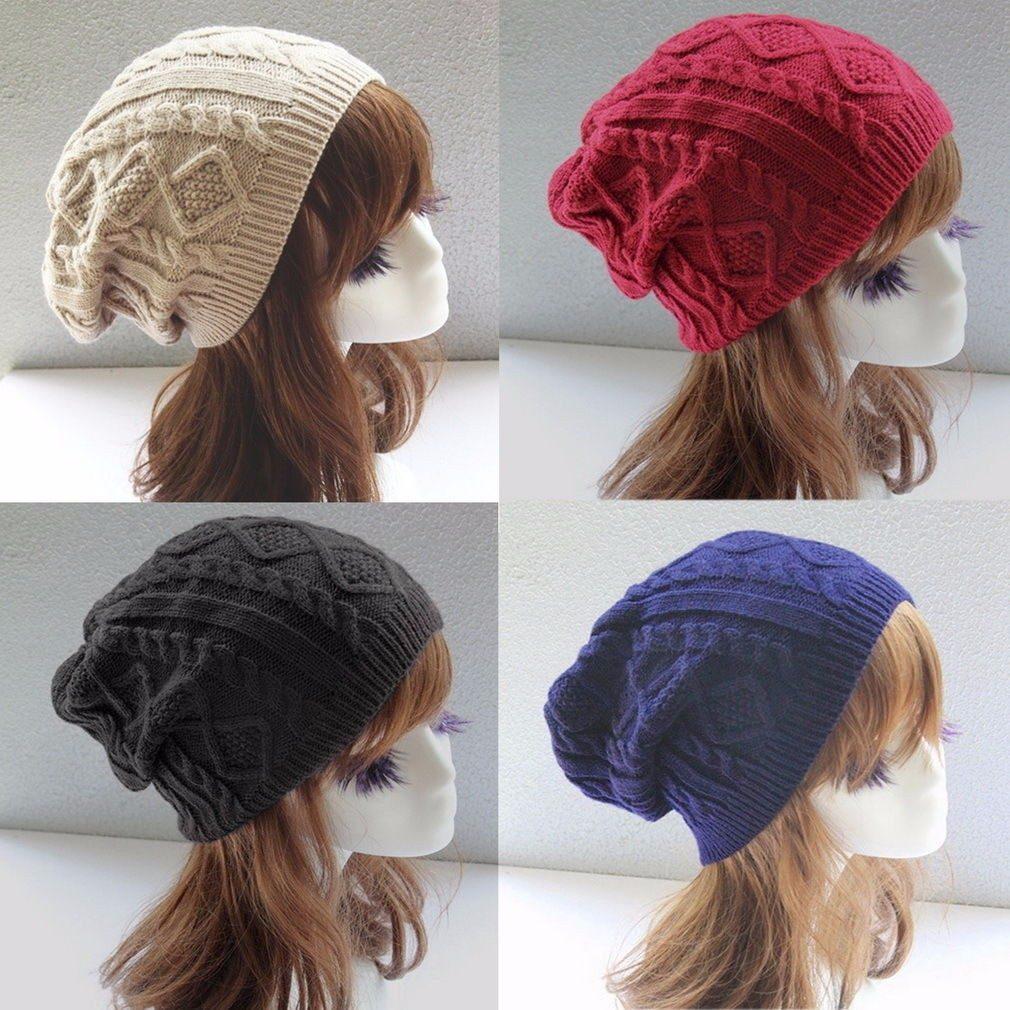 4d4907cb81334 boina tejida winter fashion mujer ladies warm knit crochet x. Cargando zoom.