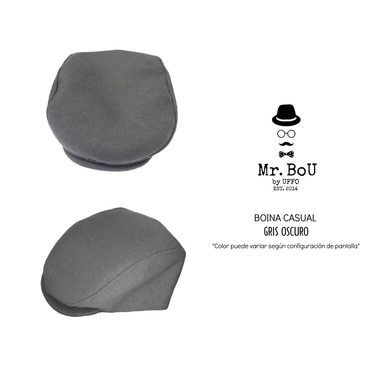 Boina Unisex Hombre Mujer Vintage Gorro Abuelo Bc05 Mr.bou - S  34 ... a9214aa70db