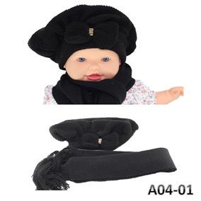 181f29fe808ff Lindissima Boina Infantil Bebê Tipo Touca Crochê Com Laço