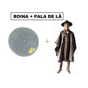 3bf91a5180223 Boina + Pala De La Ovelha Poncho Gaucho Quentinho