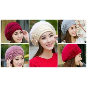 79d42683ef0c0 Boina Fashion Mujer Winter Warm Cap Knitted Hat Rabbit Fur