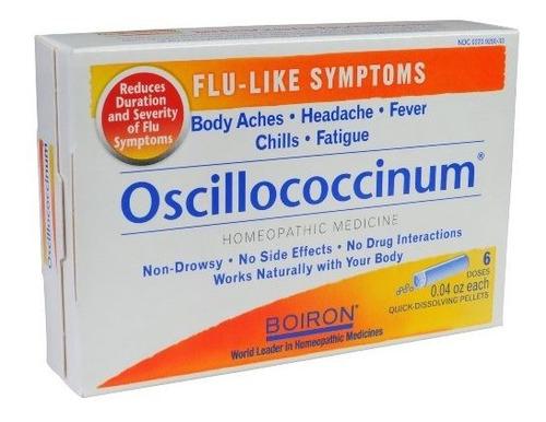 boiron medicina homeopatica oscillococcinum para gripe 6 cou
