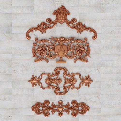 boiserie aplique decorativo moldura de madera a medida