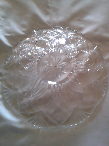 bol o bandeja en cristal tallado 36 x 7cm