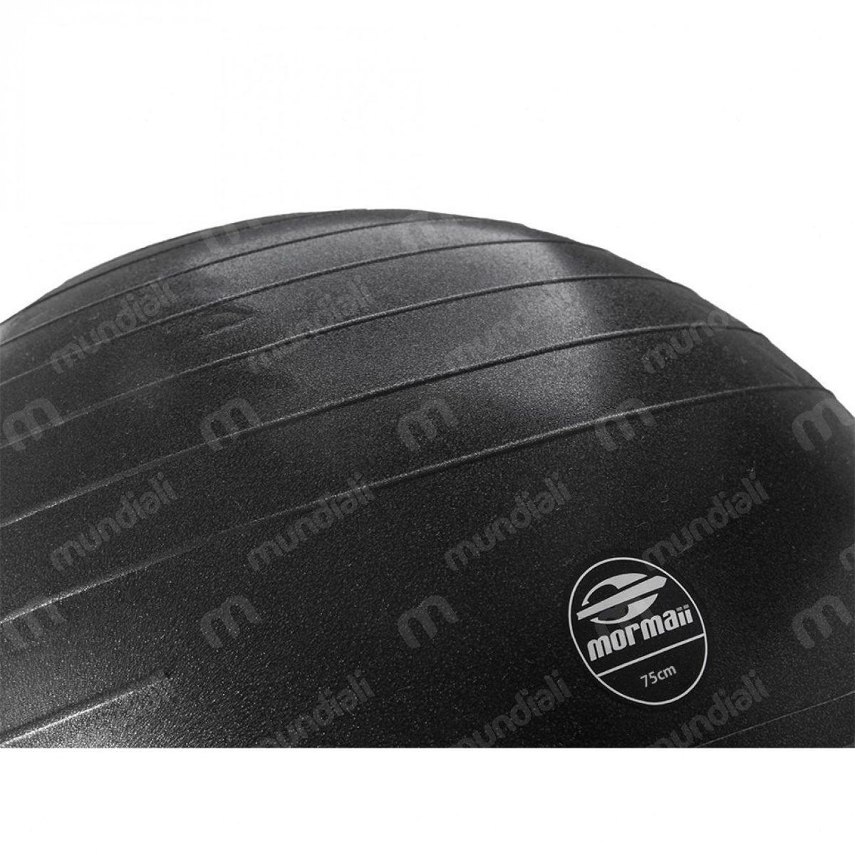 bola 75 cm gym ball anti-burst preta mormaii +bomba. fitness. Carregando  zoom. cad5db2017d88