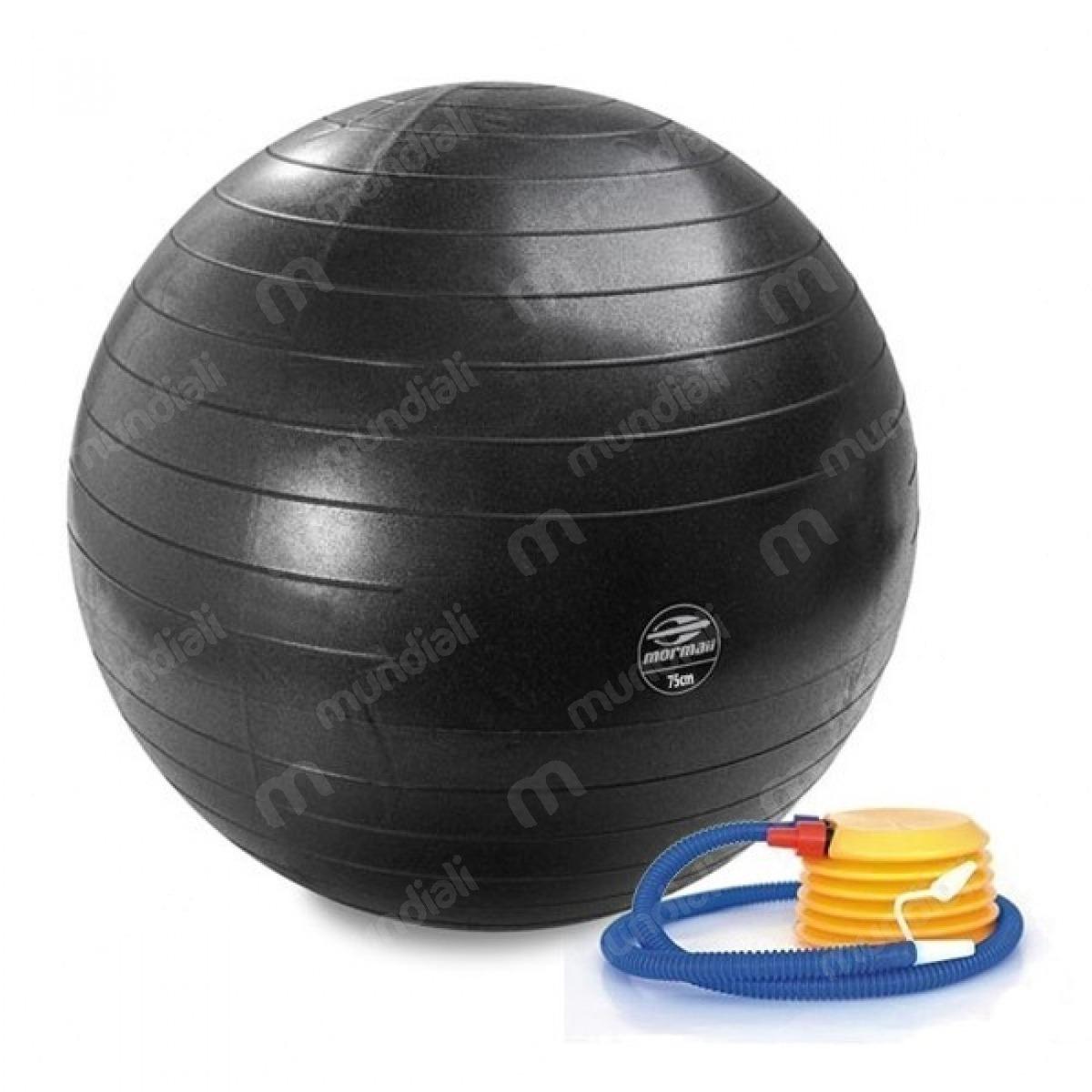Bola 75 Cm Gym Ball Anti-burst Preta Mormaii +bomba. Fitness - R  83 ... a875a406e15d4