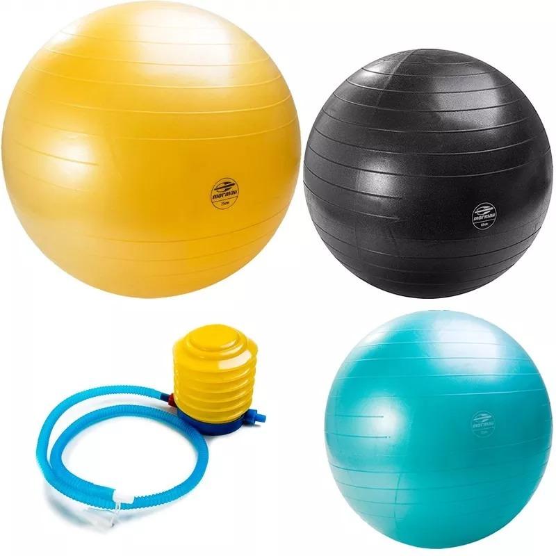 bola 75cm suíça gym pilates yoga bomba ar fit 447300 mormaii. Carregando  zoom. 5f61c830cf403