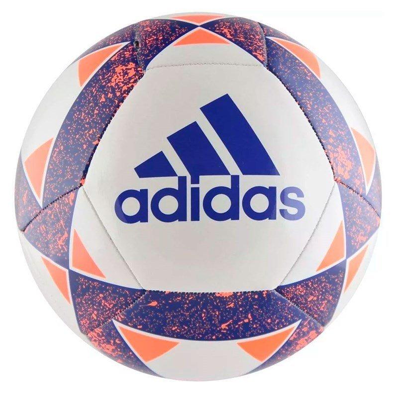 4a0b5ac99e582 bola adidas de futebol campo starlancer v - branco e azul. Carregando zoom.