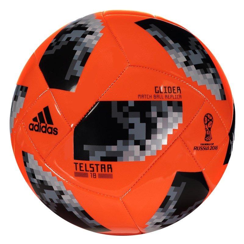 bola adidas telstar 18 glider campo laranja. Carregando zoom. a0673fcde4a00