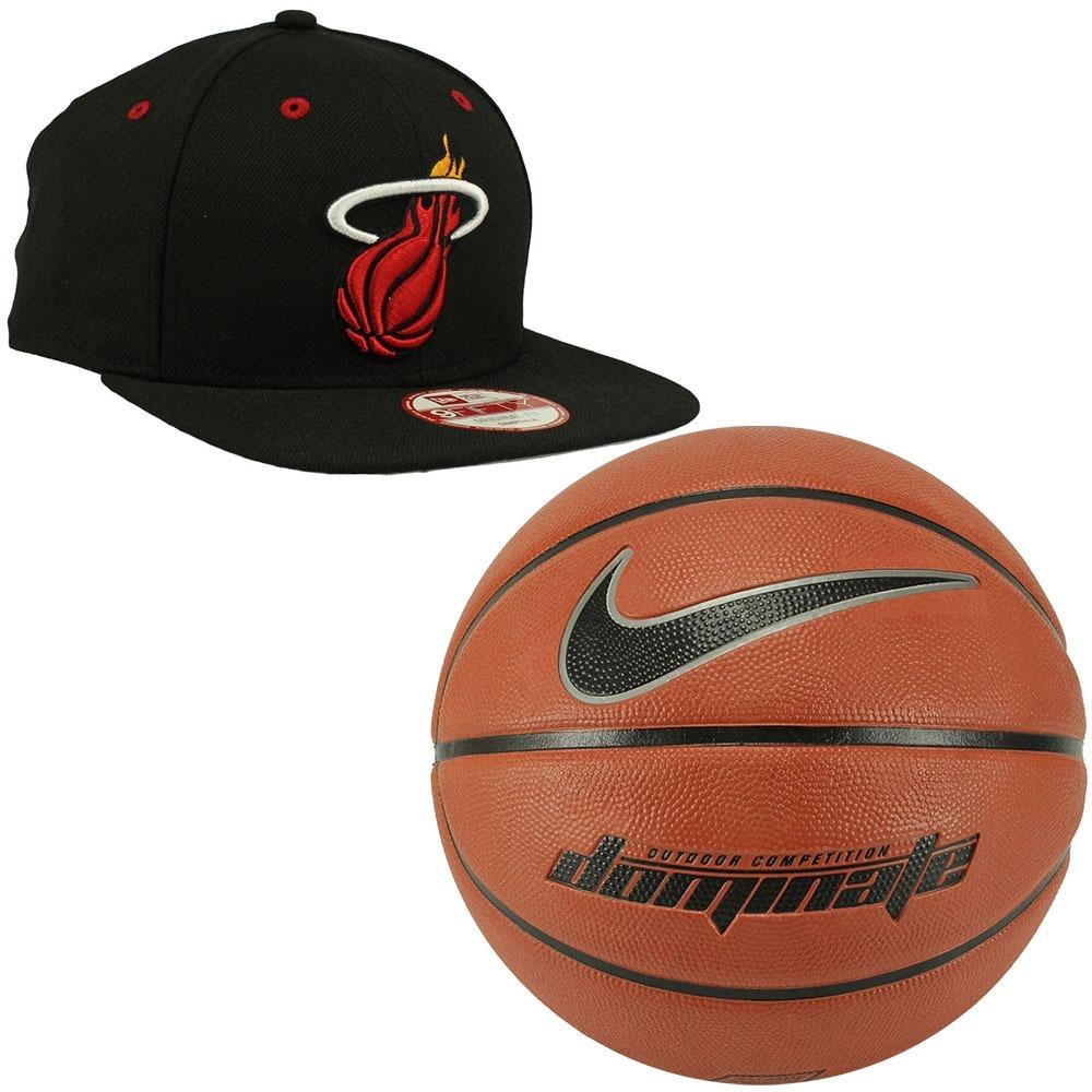 Bola Basquete Nike Dominate 7 Marrom+ Boné New Era Nba Heat - R  229 ... dff6e276a4b