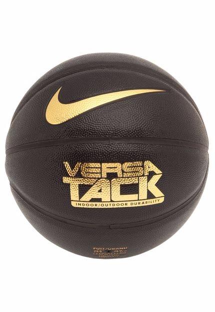 Bola Basquete Nike Versa Tack 7 Preta Com Dourado - Original - R ... 9960d35f8d5bd