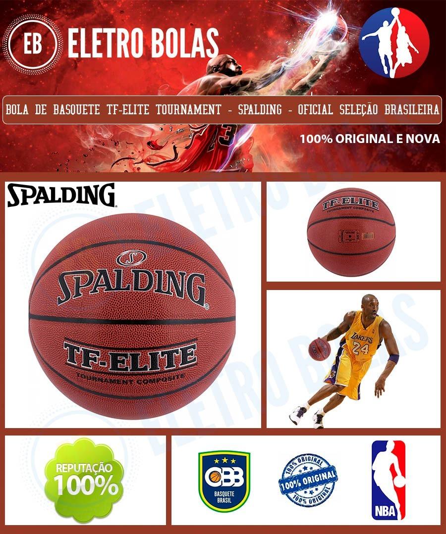 c3081122e1fff bola basquete tf-elite pro oficial cbb original spalding. Carregando zoom.