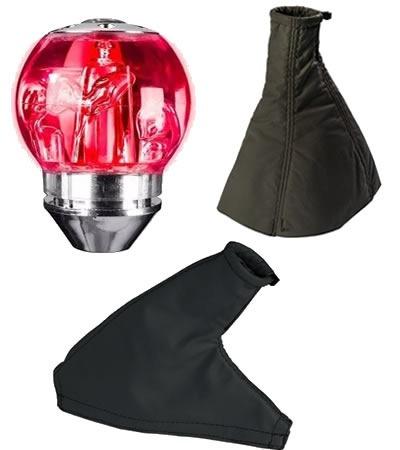 bola cambio led vermelha coifa + freio strada cabine estendi