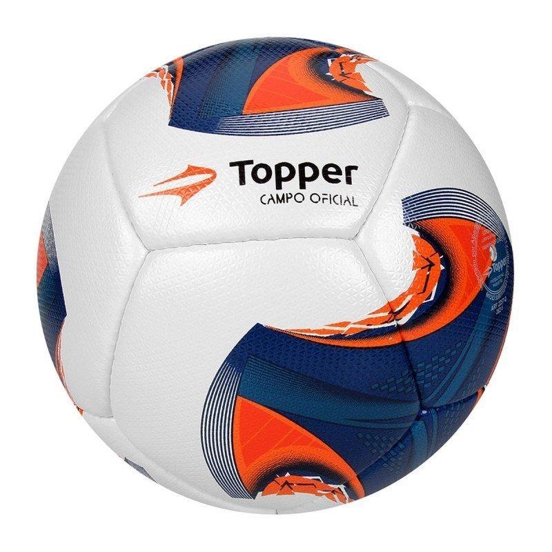 bola campo oficial topper v12 4130725 - branco e azul. Carregando zoom. de1c7d5d4861b