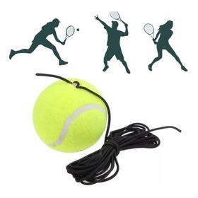 Bola Com Elástico Treino Tênis De Campo Azul Esportes