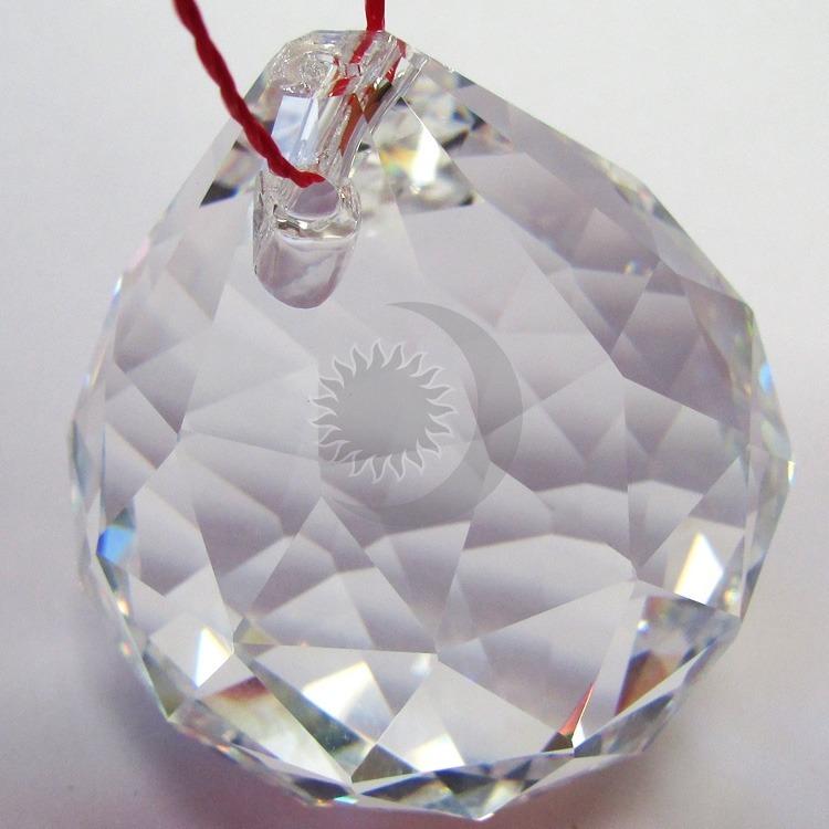 49989f8d28e Bola Cristal Facetada Egípcia 40mm-feng Shui-ganhe Moeda- - R  26