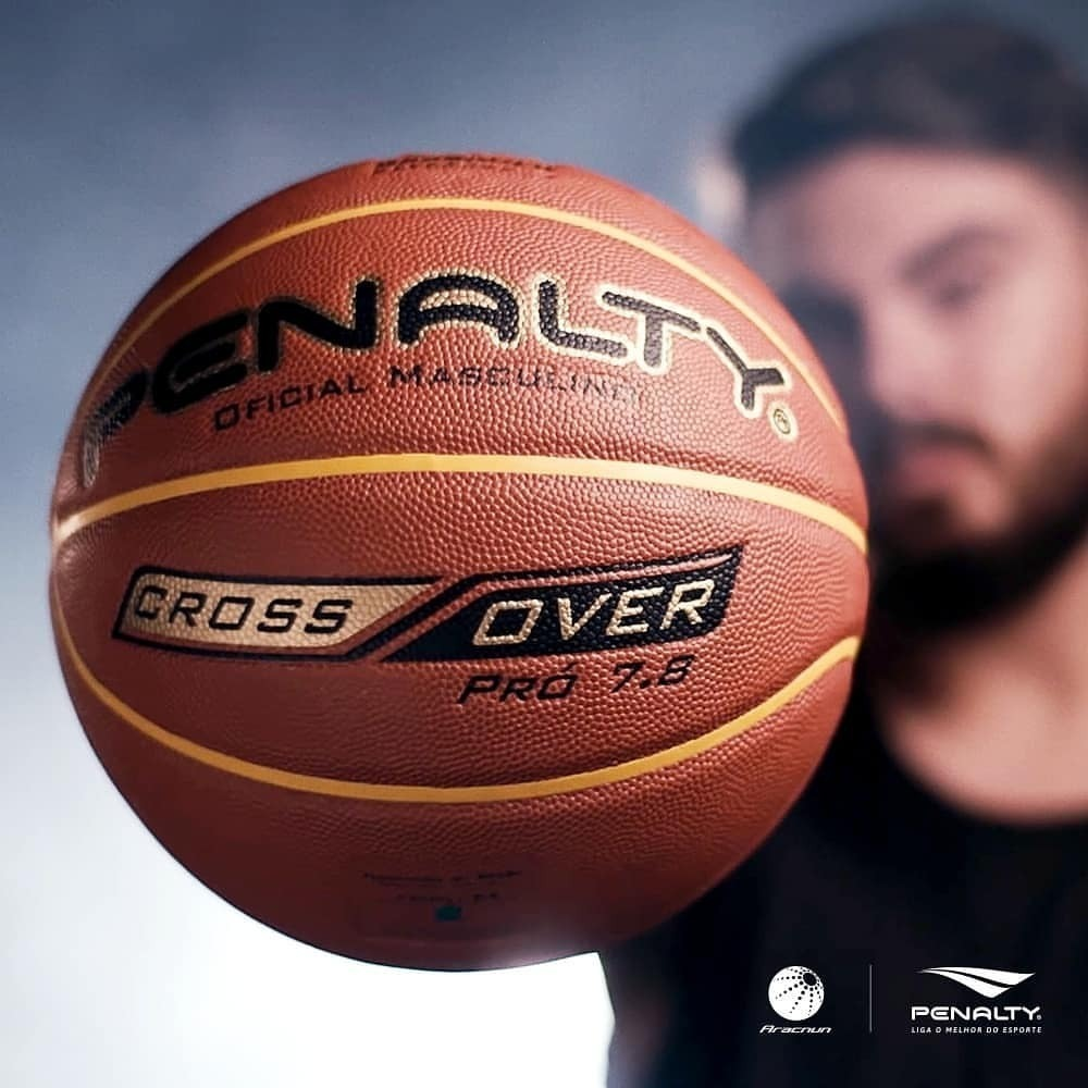 Bola De Basquete 7.8 Crossover Certificada Fiba Nbb Penalty - R  252 ... cd7af650a50dc