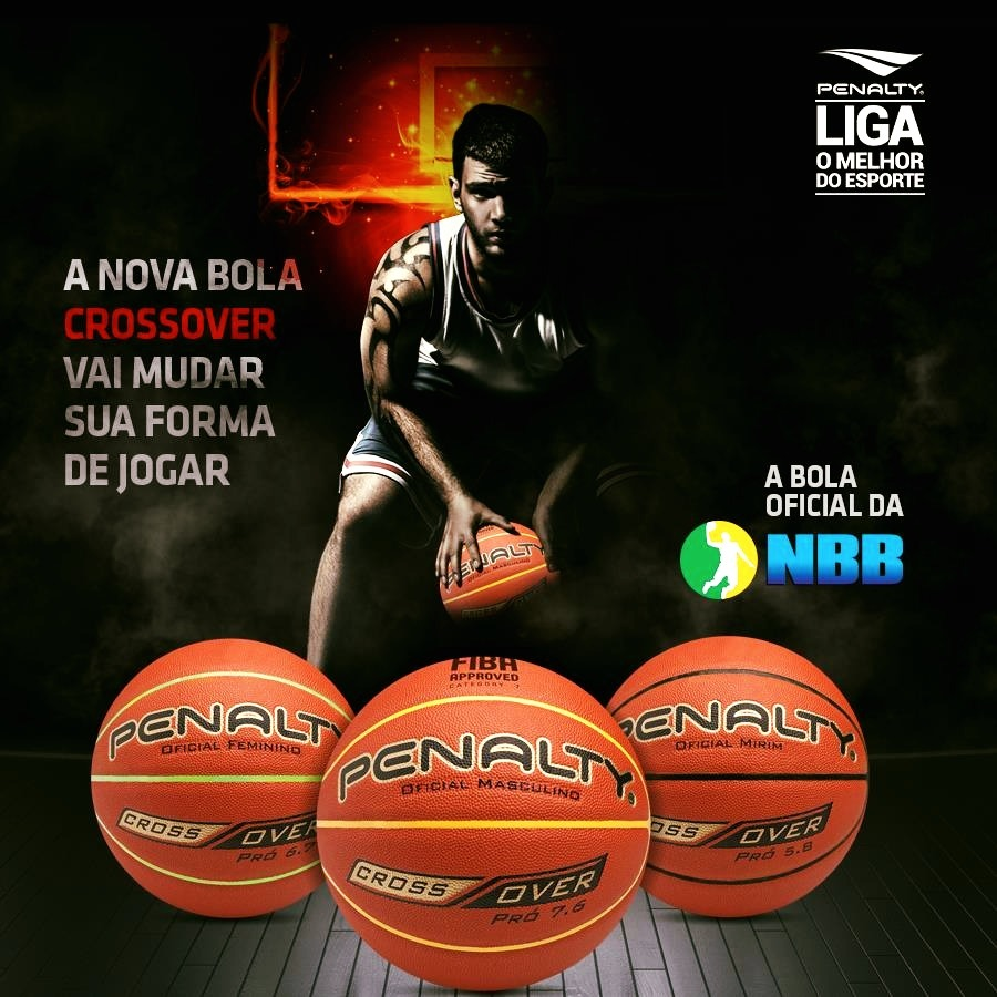 bola de basquete penalty crossover pró 6.7 original fiba nbb. Carregando  zoom. c6dbfeaea0eaa